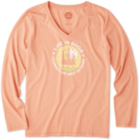 Women's The Great Outdoors Long Sleeve Cool Vee