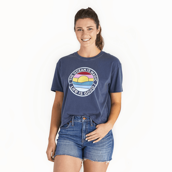 Women's The Ocean Is Magic Coin Boxy Crusher Tee