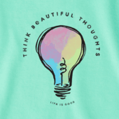 Women's Think Beautiful Thoughts Crusher Vee