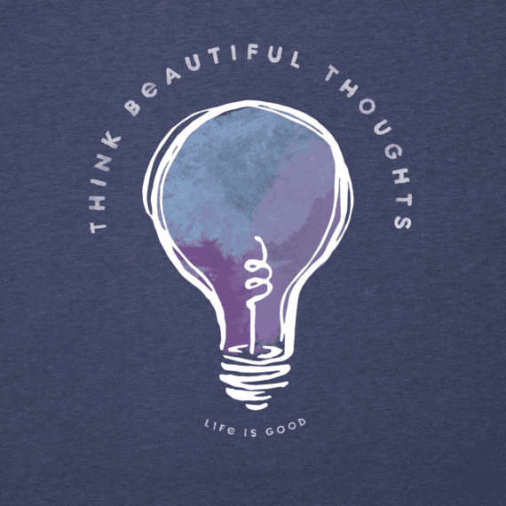 Women's Think Beautiful Thoughts Long Sleeve Cool Tee