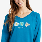 Women's Three Daisies Go-To Long Vee