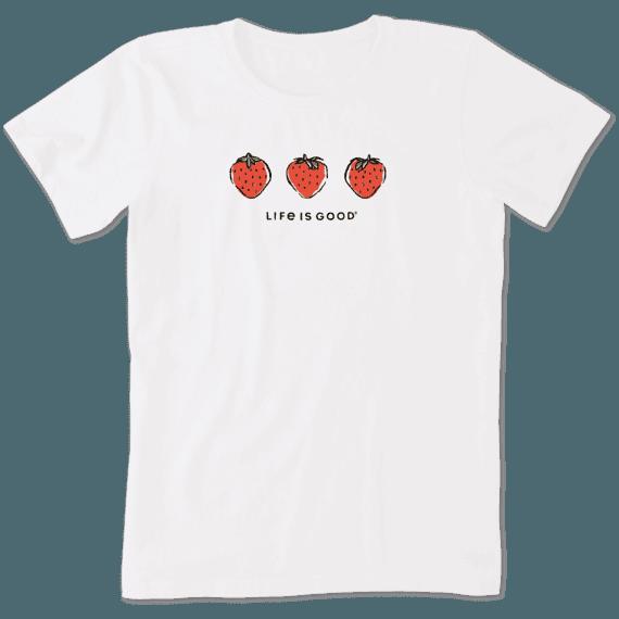 Women's Three Strawberries Crusher Tee