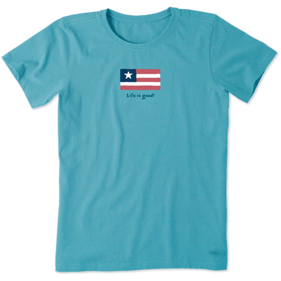 Women's Three Stripe Flag Vintage Crusher Tee