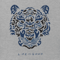 Women's Tiger Face Long Sleeve Crusher Tee