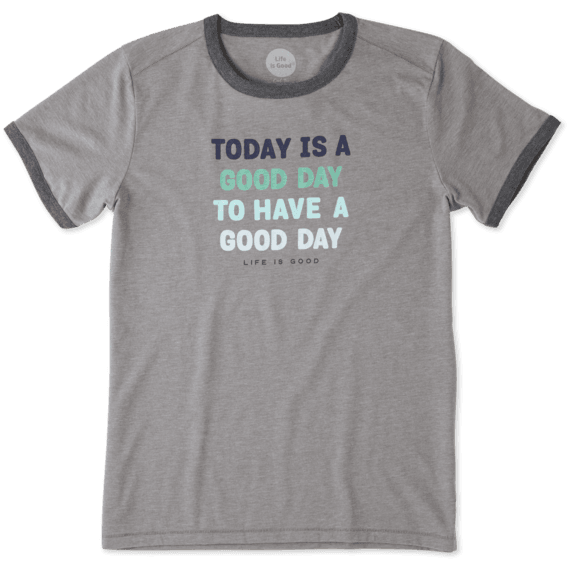 Women's Today Is A Good Day Ringer Cool Tee