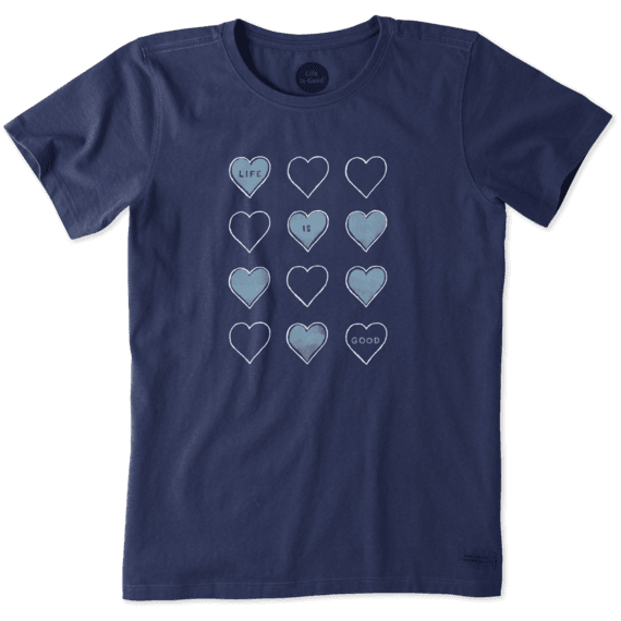 Women's Tossed Hearts Crusher Tee