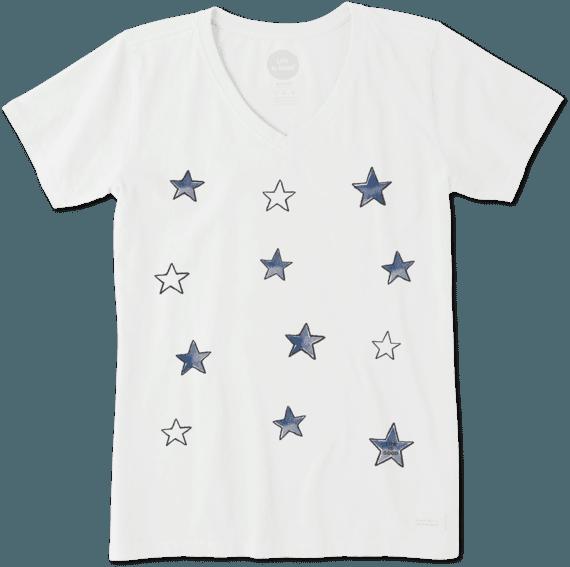 Women's Tossed Stars Crusher Vee