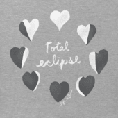 Women's Total Eclipse Hearts Long Sleeve Crusher Vee