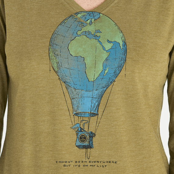 Women's Travel Balloon Long Sleeve Cool Vee