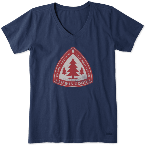 Women's Tree Badge Crusher Vee