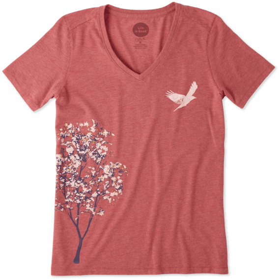 Women's Tree Bird Cool Vee