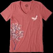Women's Tree Bird Cool Vee