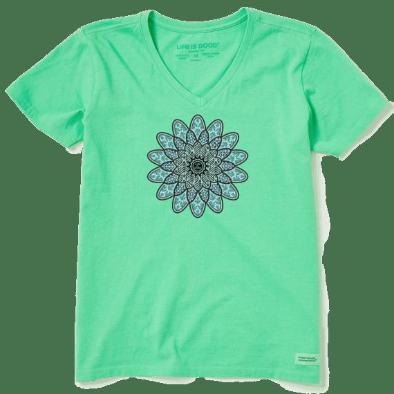 Women's Tribal Flower Crusher Vee