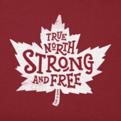 Women's True North Strong Canada Crusher Vee