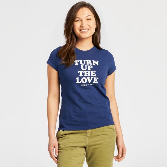 Women's Turn Up The Love Textured Slub Tee