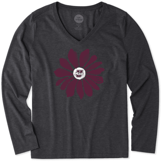 Women's UMass Daisy Long Sleeve Cool Vee