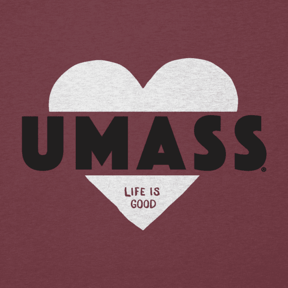 Women's UMass Heart Knockout Cool Vee