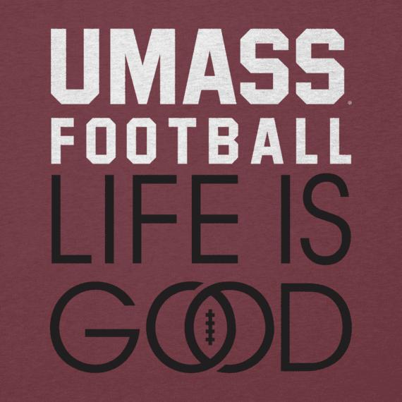 Women's UMass Infinity Football Long Sleeve Cool Vee