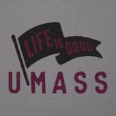Women's UMass Pennant Long Sleeve Cool Vee