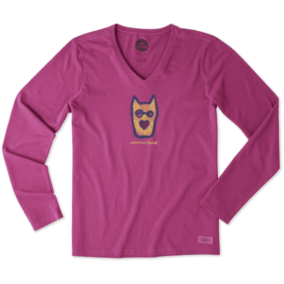 Women's Unconditional Rocket Long Sleeve Crusher Vee