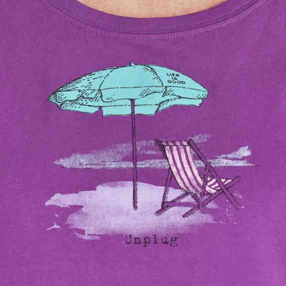 Women's Unplug Beach Umbrella Crusher Scoop Neck Tee