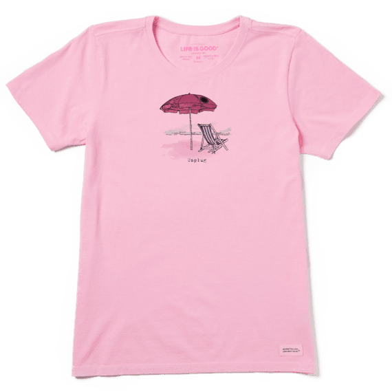 Women's Unplug Beach Umbrella Crusher Tee