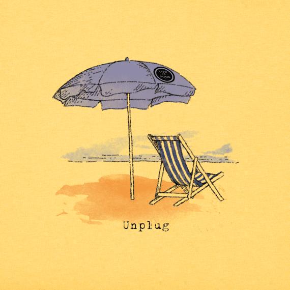 Women's Unplug Beach Umbrella Crusher Tee