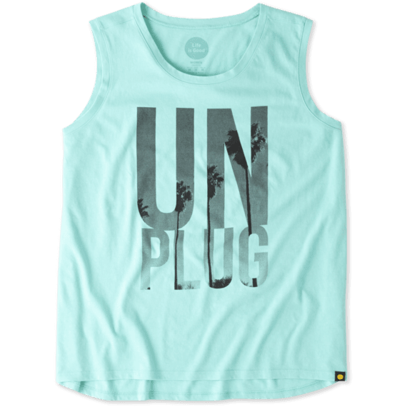 Women's Unplug Palms Muscle Tee