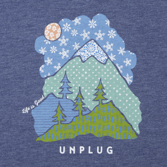 Women's Unplug Snowy Mountain Cool Vee