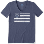 Women's Villanova Flag Cool Vee