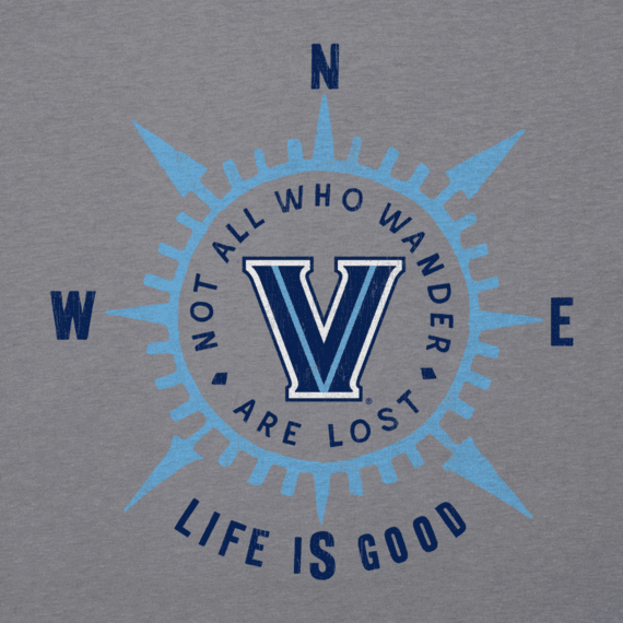 Women's Villanova University Wander Compass Cool Vee