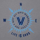 Women's Villanova University Wander Compass Cool Vee