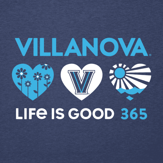 Women's Villanova Wildcats 365 Hearts Cool Vee