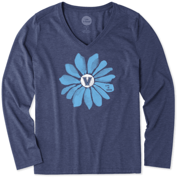 Women's Villanova Wildcats Daisy Long Sleeve Cool Vee