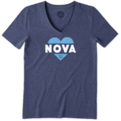 Women's Villanova Wildcats Heart Knockout Cool Vee