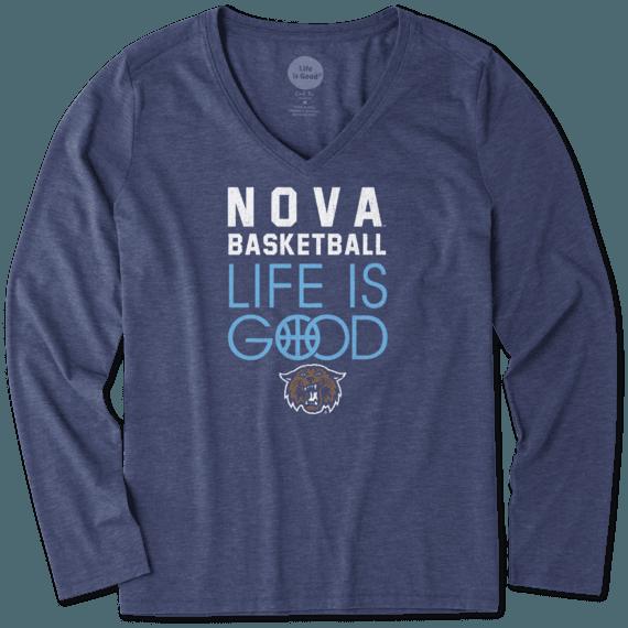 Women's Villanova Wildcats Infinity Basketball Long Sleeve Cool Vee