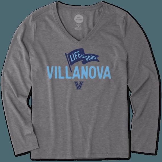 Women's Villanova Wildcats Pennant Long Sleeve Cool Vee