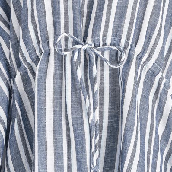 Women's Vintage Blue Stripe Summer Breeze Tunic