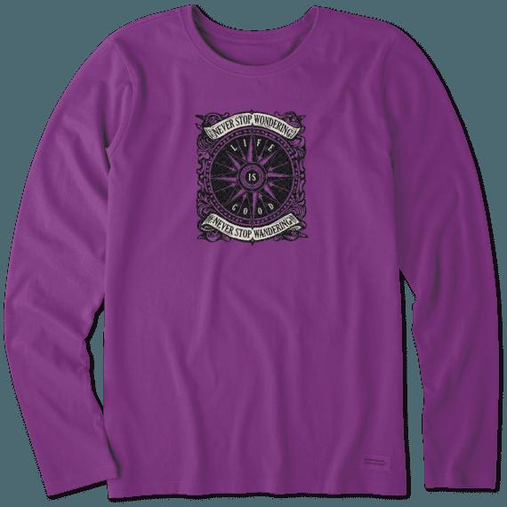 Women's Wander Compass Long Sleeve Crusher Tee