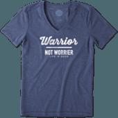 Women's Warrior Not Worrier Cool Vee