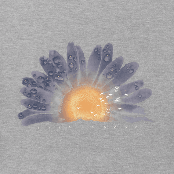 Women's Watercolor Daisy Crusher Tee