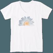 Women's Watercolor Daisy Crusher Vee