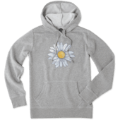 Women's Watercolor Daisy Hooded Sweatshirt