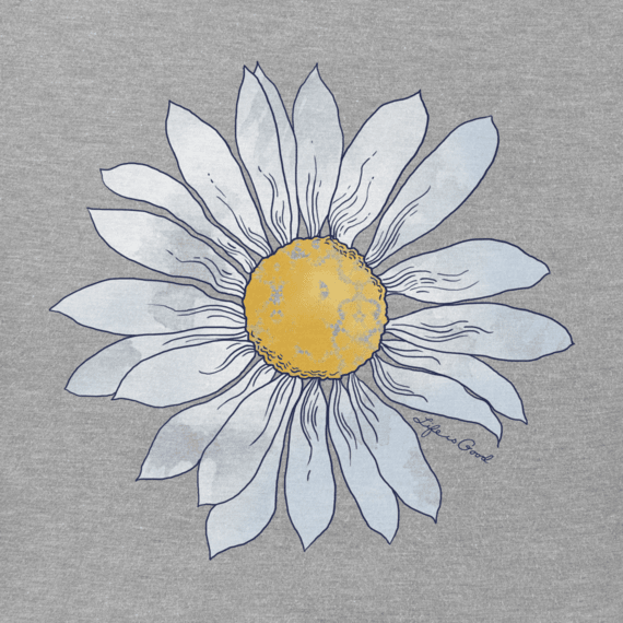Women's Watercolor Daisy Hooded Sweatshirt