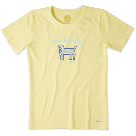 Women's We're All Mutts Crusher Tee