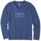 Women's Wherever We Go Together Long Sleeve Crusher Vee