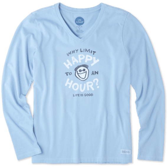 Women's Why Limit Happy Hour Long Sleeve Crusher Vee