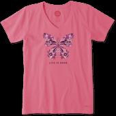 Women's Wild Butterfly Crusher Vee