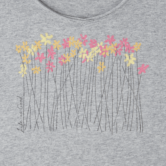 Women's Wild Flower Meadow Long Sleeve Smooth Tee