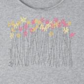 Women's Wild Flower Meadow Long Sleeve Smooth Tee